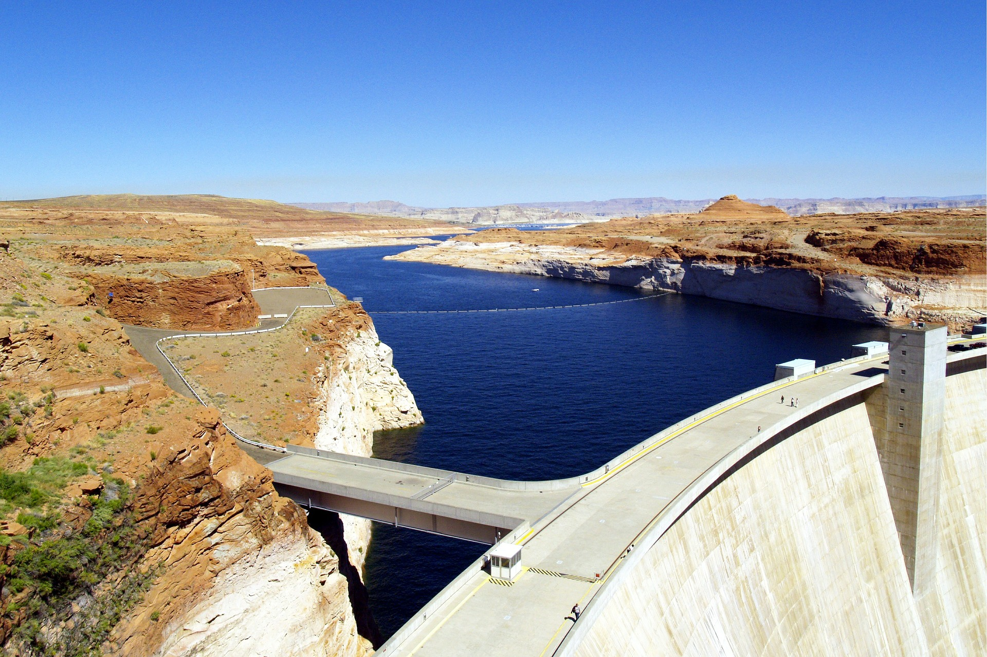lake powell, dam, barrier support