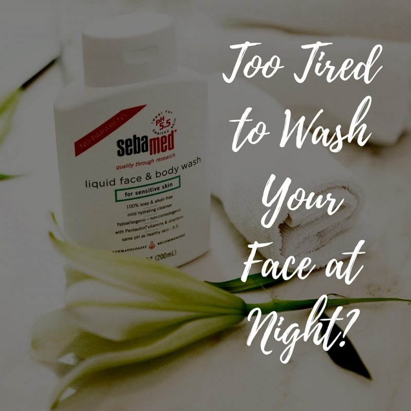 Night time skin care routine